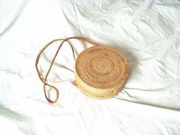$enCountryForm.capitalKeyWord NZ - Women Bohemian Bali Handbag Summer 2018 Handmade Crossbody leather shoulder Beach bag Circle Straw Bags tassel Rattan Bag