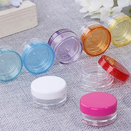 48a8d15ae Wholesale 3ml 5ml Small Round Bottle Jars Mini Empty Plastic Nail Art  Storage Cosmetic Packaging Containers LX1279