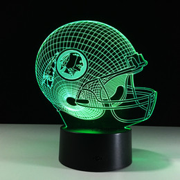 Football led night online shopping - Football Friendship gifts D LED Night Light Color Changing building USB Optical Illusion Home Decor Table Lamp Novelty Lighting for kids