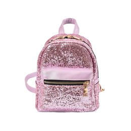Discount mini leather bags for girls - 2018 Women's BackpacSequins PU Leather Backpack Children Mini Bag Fashion Small Backpack For Teenage Girls