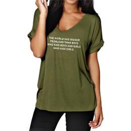 3b699c5245d christmas t shirts plus size 2019 - 2018 New Fashion THE WORLD HAS BIGGER Print  Shirt