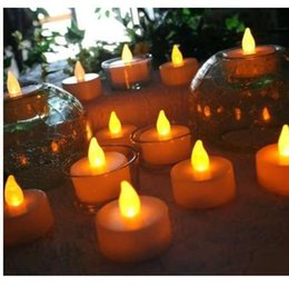 Flameless Candles Free Shipping Australia - 12pcs LED Tea Light Candles Realistic Battery-Powered Flameless Candles free shipping wholesale J10