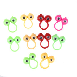 Wiggles Gifts NZ - 25mm 10Pcs New Eye Finger Puppets Plastic Rings with Wiggle Eyes Party Favors for Kids Gift Toys Pinata Fillers Birthday