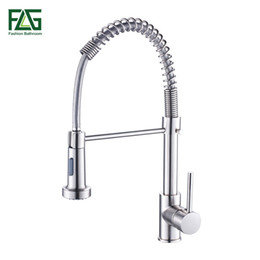 $enCountryForm.capitalKeyWord NZ - Spring Style Kitchen Faucet Brushed Nickel Faucet Pull Out Torneira All Around Rotate Swivel 2-Function Water Outlet Mixer Tap