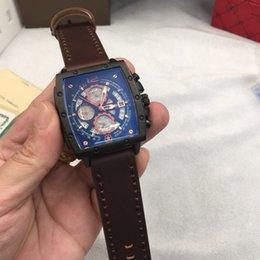 $enCountryForm.capitalKeyWord NZ - Fashion Brand Luxury Watches JPF258 Men Waterproof Quartz Watch Leather strap black brown Chronograph clocks sports Mens Wristwatches