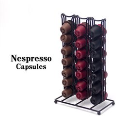 Cast displays online shopping - Nespresso Coffee Tower Capsule Dispenser Portable Display Frame Stainless Steel Nestle Holders Storage Rack Stand Tools lq bb