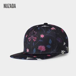 c1f5e17e828 NUZADA new Korean outdoor men s Hat Ladies flat flat baseball cap Flower  Print Cotton hat wholesale