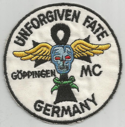 $enCountryForm.capitalKeyWord Australia - Unforgiven Fate MC Goppingen Germany Patch Motorcycle Applique Badge Embroidery Patch Biker Punk Parch on Clothing for Jacket Backpack
