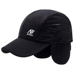 c6c39a1cab9 Baseball Hat Ear Warmers UK - Wuaumx Sport Winter Baseball Cap Men With  Earflaps Thicker Warm