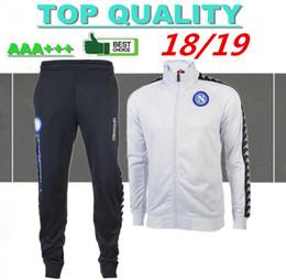 2018 2019 Chándal de fútbol Napoli MERTENS Hamsik Insigne Callejon  Zielinski 18 19 Nápoles blanco y negro Conjunto de chaqueta de fútbol Suéter 86989af76551d
