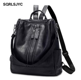 $enCountryForm.capitalKeyWord NZ - Women Backpack Feminina Escolar Bagpack Leather s Menina l Realer BackpackS korean style School BagS back pack