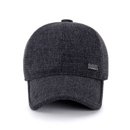 BING YUAN HAO XUAN New Arrival Winter Spring Autumn Sport Baseball Caps  With Ears Warm Winter Hat for Men Golf Hat 57fa8009c687