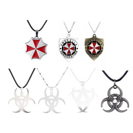 resident evil umbrella corporation 2019 - New Fashion Movie Resident Evil Umbrella Corporation Logo Long Necklace Pendant For Men and Women Factory Outlet Drop Sh