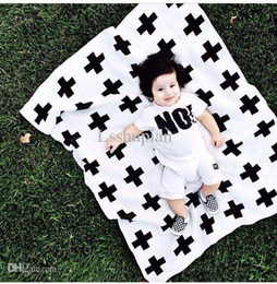 Pink Green Girls Bedding Canada - Wholesale-90*110cm Cross Baby Blankets Cotton Air Condition Bedclothes Knitted Blanket Newborn Girls Boy Baby Bedding Fleece Baby Blankets