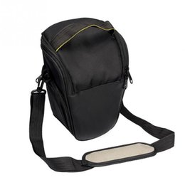 Dslr Cameras Bags Australia - Fashion Triangle Waterproof Camera Bag For Canon DSLR EOS 1300D 1200D 760D 750D 700D 600D 650D 550D 60D 70D SX50 SX60 T6i Camera