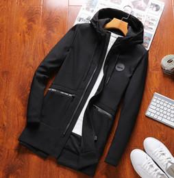 Heiß-Verkauf Herbst 2018 neue Männer langen Stil Trenchcoat Freizeit koreanische Version der dünnen Mode Trend Kapuzen Jugend Jacke Männer