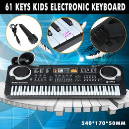 4e03c834e34 Electronic Organ Musical Toys 61 Keys Electronic Piano Keyboard With  Microphone For Boys Girls Toy Gift