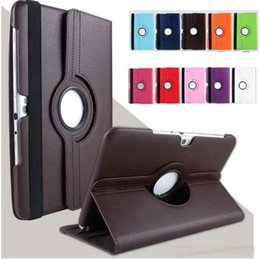 smart tablets Canada - 360 Rotating Tablet Cases For Samsung Galaxy Tab 2 10.1 inch P5100 P5110 P7500 P7510 Litchi Pattern PU Leather Stand Protective Cover OM-R1