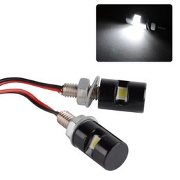 Chinese  10Pcs Motorcycle License Plate Screw Bolt Light 12V Car Motor White SMD LED Bulb Lamp Car Styling manufacturers