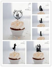 $enCountryForm.capitalKeyWord Australia - Mixed Style Bride and Groom Cupcake Topper Black acrylic cupcake topper for Cupcake Decorations Wedding Decorations 24pcs lot