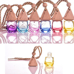 Perfume romantic online shopping - Hanging Car Perfume Bottles Fragrance Diffuser Bottle Car Air Freshner Glass Essential Oil Bottle Pendants Car Handing Decorations AAA1019