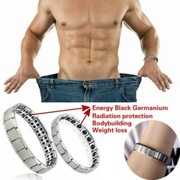$enCountryForm.capitalKeyWord Australia - Couple Germanium Titanium Steel Elastic Bracelet Stretch Bracelet Bangle For Men Women Health Energy Ge Power Jewelry New fashion wholesale