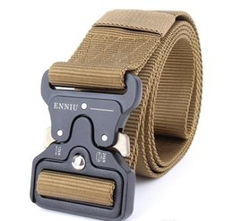 Chinese  2018 SWAT Military Equipment Knock Off Army Belt Men's Heavy Duty US Soldier Combat Tactical Belts Sturdy 100% Nylon Waistband 4.5cm manufacturers