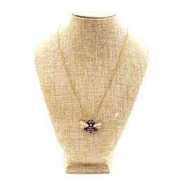 $enCountryForm.capitalKeyWord UK - 2018 Empress Electroplating Environmental Protection Animals Bee Thin Chain Choker Japanese Imported Glass Bead Cute Necklace
