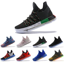 adf3e8c54d8a 2018 Zoom KD 10 Multi-Color Oreo Numbers BHM Igloo Men Basketball Shoes KD  10 X Elite Mid Kevin Durant Sport Sneakers