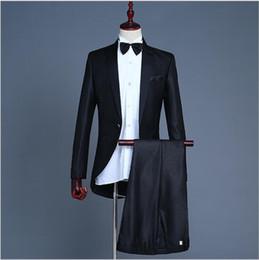 $enCountryForm.capitalKeyWord Australia - Magician Little Swallowtail Suit Men's Vocal Chorus Conductor Performance Gown Coat Nightclub Bar Hoster Suits Wedding Formal Tuxedos