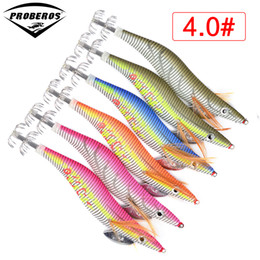 brand fishing lures Australia - 6pc Squid Jigs PRO BEROS Brand Fishing Lure Exported To Usa Market Fishing Tackle 6 Color 5.5g-21.56g,8cm--15cm, 2.0#--4.0# Hook