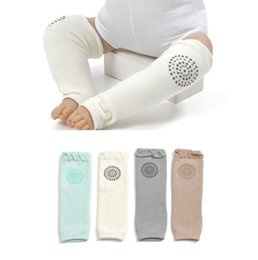 baby crawling leggings UK - Toddle thicken Crawling legwarmer Baby Antiskid Kneepads Leggings Toddler Autumn Winter warm Protective Cotton Socks 5colors for choose B11