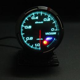 Frete Grátis 13 Backlight Cor Em 1 60mm DEFI Avanço BF Link Vacuum Gauge Medidor de Vácuo Auto Medidor em Promoção