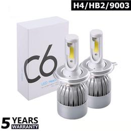 H11 online shopping - 1Pair COB C6 Car Headlight V LM k H4 H7 H11 LED H1 H3 H13 Car Lights