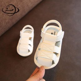 $enCountryForm.capitalKeyWord NZ - YAUAMDB newborn baby first walkers 2018 summer leather girls boys sandals soft bottom toddler shoes breathable infant shoes ly22
