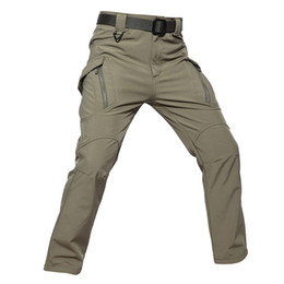 Pantalons De Chasse Hommes IX9 Sharkskin Polaire Softshell Pantalons Imperméables Sports de Plein Air Combat Cargo Pantalons Tactiques Femmes en Solde