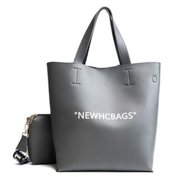 Fashion bucket bag alphabet pattern shoulder bag with width strap DE 413093953026a