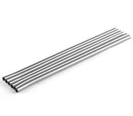 eco straws UK - Durable Stainless Steel Straight Drinking Straw Straws Metal Bar Family kitchen