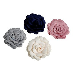 China Foam Flowers Satin Ribbon Rose Flower 1.4'' 4 Colors DIY Roses for Hair Accessories Supplies for Women Girls Lady suppliers