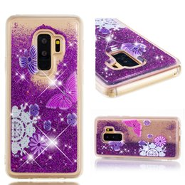 Cover S5 Butterfly Australia - butterfly Dynamic Quicksand Liquid case For Samsung Galaxy S5 S6 S7 S8 S9 Plus Bling Glitter Silicone Soft TPU case cover