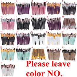 20 Unids Cepillos de Maquillaje Cosméticos Set Powder Foundation Sombra de Ojos Eyeliner Lip Brush Tool Marca Maquillaje Cepillos herramientas de belleza pincel maquiagem