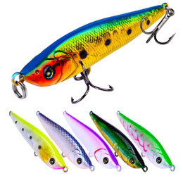 $enCountryForm.capitalKeyWord Australia - 6 Pcs lot Poper Hard plastic lures hooks 3D Eyes Fishing baits 8# Hook Artificial Fishing Lure Tackle Accessories Free Shipping