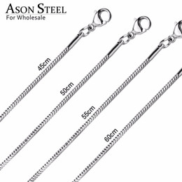 Bulk Stainless Chain Australia - ASONSTEEL 10Pcs lot Stainless Steel Rope Chains Necklace Bulk Chain Wholesale