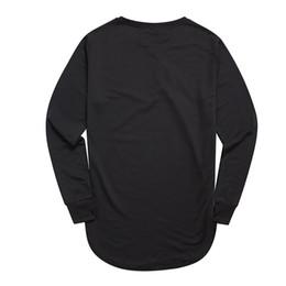 $enCountryForm.capitalKeyWord Australia - Fashion Thumb Hole Long Full Sleeve Hipster Tee Kpop For Men T -Shirt Solid Hip Hop Street T Shirt Black Hold Hand Mens Tshirts Hot Sale