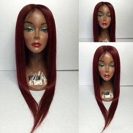 unprocessed full lace wigs prices UK - Factory price good fedback popular 100% unprocessed virgin human hair long ombre color 1bT99J silk straight full lace wig for women
