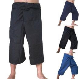 c6c3901ad9101 New Linen Pocket Yoga Sport Plus Size Casual Trouser Ninth Length Pants  Wholesale Drop Shipping