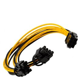 China HOT 6 inch Molex 6-pin PCI Express to 2 x PCIe 8 (6+2) pin Motherboard Graphics Video Card PCI-e GPU VGA Splitter Hub Power Cable OTH812 cheap x motherboard suppliers