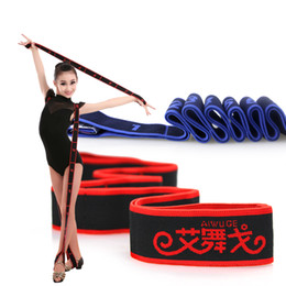 latin dance belts Canada - Professional Latin Ballet Bands Dance Resistance Bands Exercise Body Stretching Belt Pull Rope Latin Dance Accessories