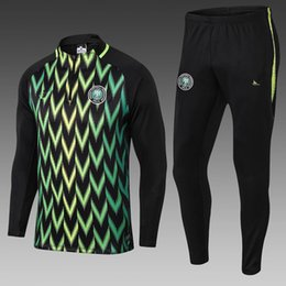 survetement football UK - MUSA 2018 world cup Nigeria soccer Jacket Tracksuit 18 19 chandal Nigeria Okechukwu Dayo Ojo Survetement Football Training Kits