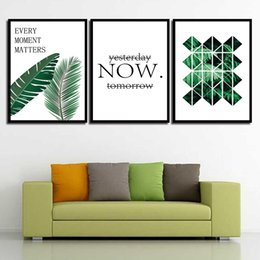 Art Canvas Prints Australia - Painting HD Wall Art Prints Minimalism Green Planet Letter Nordic Poster Canvas Pictures Living Room Kids Room Home Decor